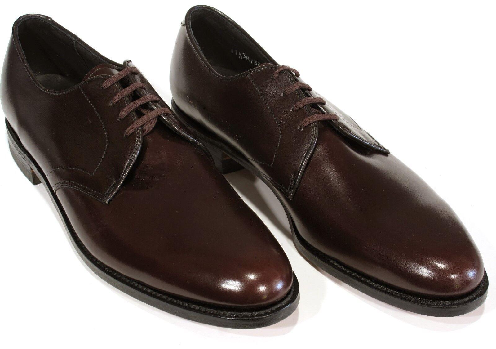 New Vtg E T WRIGHT Masterpiece Shoes 11.5AAA Burgundy Plain Toe Arch Preserver Scarpe classiche da uomo