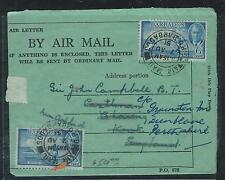 BARBADOS (P2906B) 1951 KGVI 6CX2 ON FORMULA AEROGRAMME TO ENGLAND