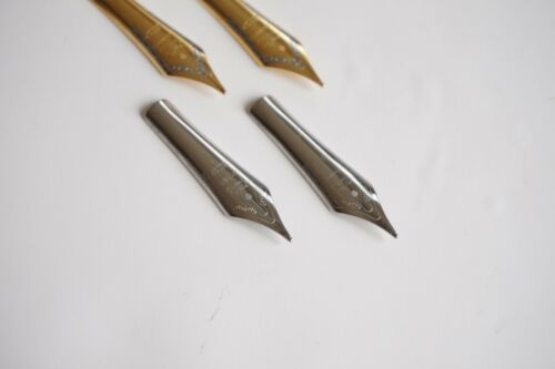 UK SOLD 2x JINHAO STEEL//TWO-TONE Size 6 FOUNTAIN PEN SPARE MEDIUM NIBS NEW
