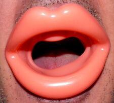 Kuss Mund weiche Gummilippen Silikon Lippen Knebel Maske Soft Beiß Schutz Mund