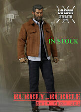 IN STOCK 1/6 Wolverine Jacket Jeans Set For Logan X-Men Hot Toys SHIP FROM USA