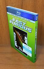 The Fast and the Furious w/ Slip Cover (Blu Ray, 2-Disc Limited Edition, 2009)