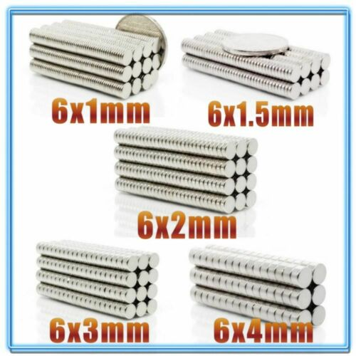 Details about  /Neodymium Magnet 200pcs N35 Magnets 6x1 6x2 6x3 6x4mm Permanent Strong Powerful
