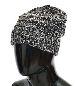 3b195a71 NEW $240 DOLCE & GABBANA Hat Beanie Wool Black White Winter Warm ...