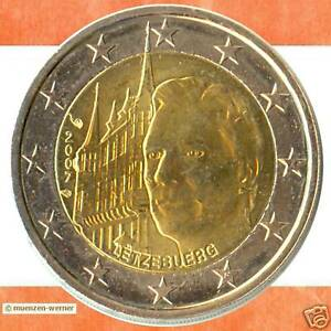 Sondermuenzen-Luxemburg-2-Euro-Muenze-2007-Palais-Sondermuenze-zwei-Gedenkmuenze