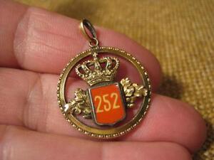 """252 Ehrlichkeit ███►uralter Anhänger """" Königl Garderegiment """""""