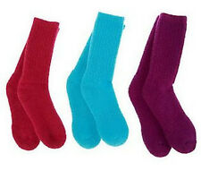 6pr Women's Merino Wool Boot Socks, Hiking/Trail, Lg 9-12, 3-Color Mix