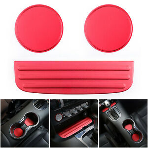Dustproof-Cup-Mat-Bottom-Holder-Anti-Slip-Pad-Cover-For-Ford-Mustang-15-18-Rd-T0