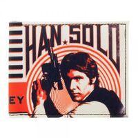 Han Solo Retro Star Wars Bifold Wallet In It For Money Classic Millennium Falcon