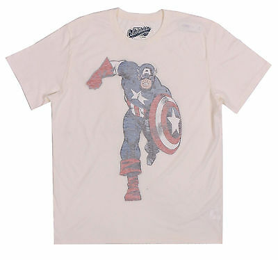 Marvel Comics Men S Old Navy White Inside Out Captain America Tee T