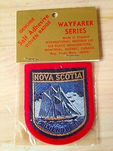Vintage Canada Souvenir Travel Patch Blue Nose II