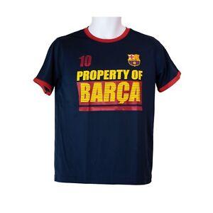 9b9de482cfc Youth Boys FC Barcelona Lionel Messi  10 Blue Short Sleeve T-Shirt ...