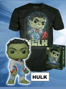 HULK-Glow-GITD-Funko-Pop-Vinyl-T-shirt-New-in-Box