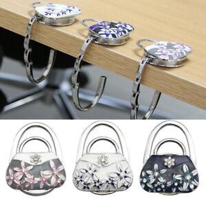 Vintage-Retro-Porcelain-Folding-Handbag-Purse-Bag-Table-Hook-Hanger-Holder-CA