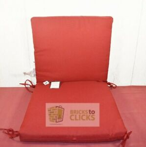 Threshold Cabana Stripe Outdoor Red Seat Cushion Weather-Resistant