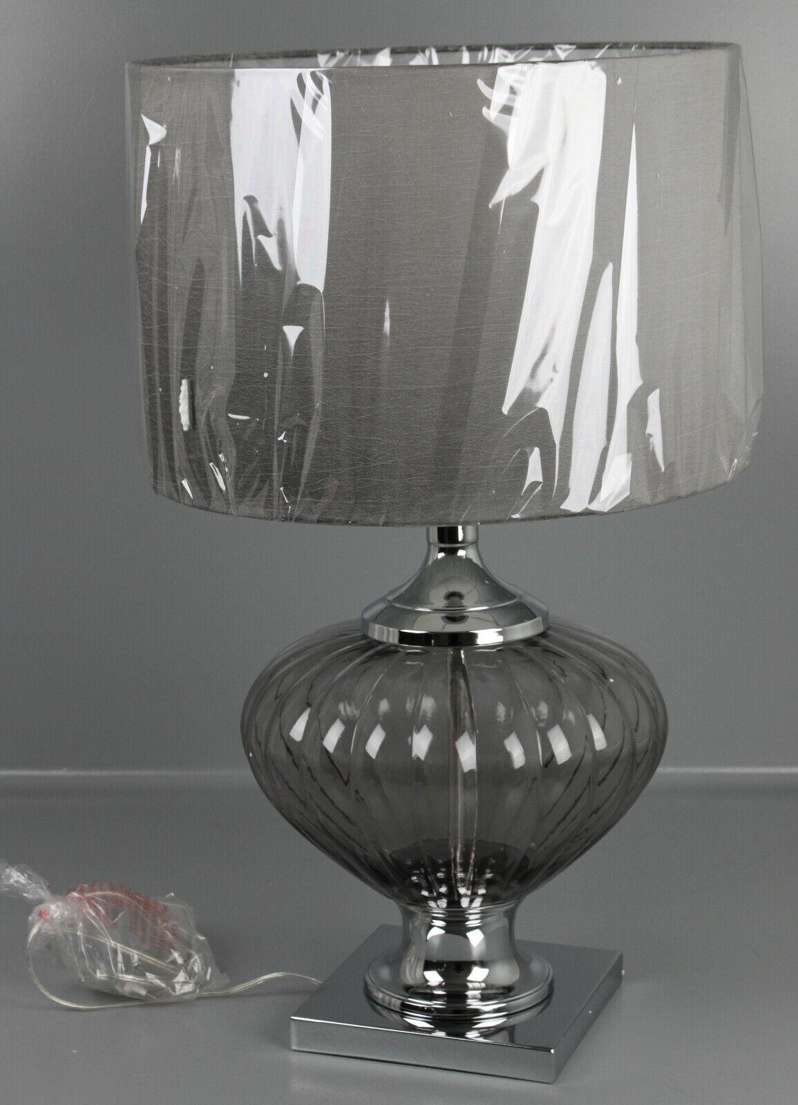 Tischlampe Tischlampe Tischlampe Glas Grau Schwarz Table Lamp Tischleuchte Stehlampe 69cm H T1-79.06UH | Deutschland Online Shop  |  f8c6cc