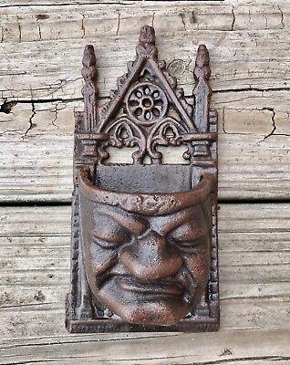 Wall Plaque English Pub Tavern Greenman Face Cast Iron Vintage 16 lb