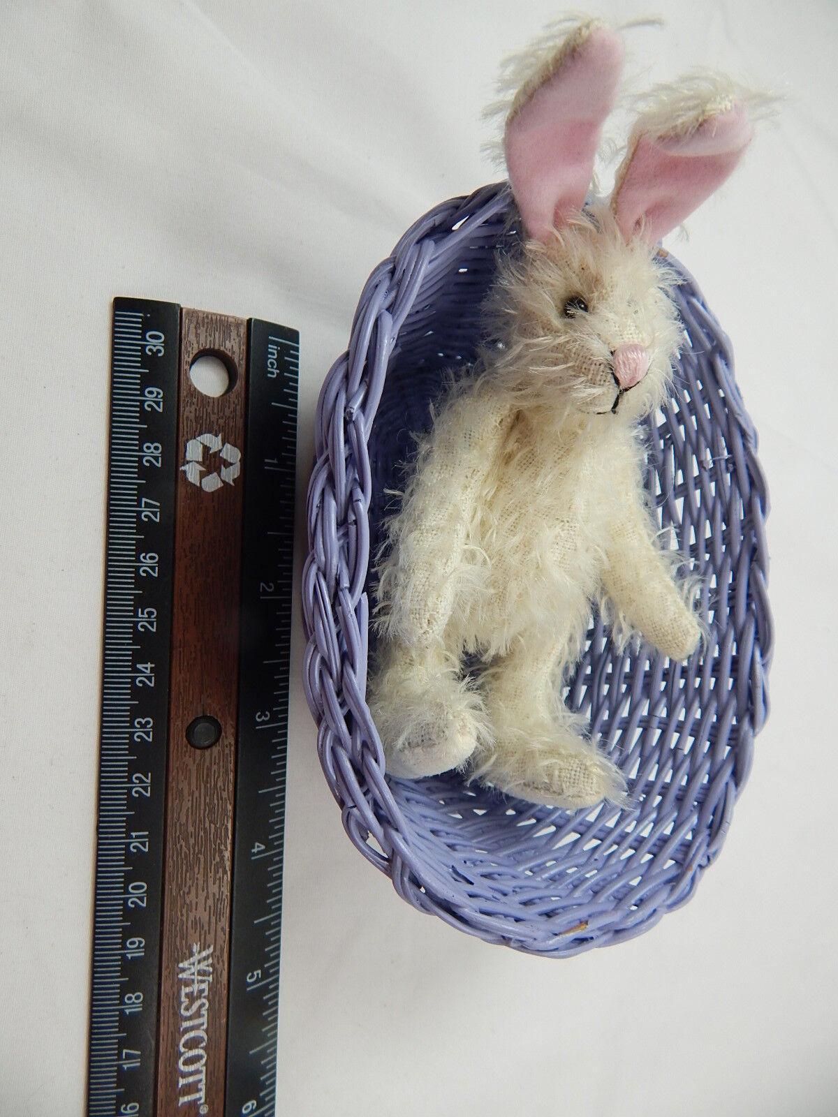 World Of Miniature Bunny Bears Dollhouse Miniature 5  Easter Bunny Miniature Rabbit  5070EC 50f844