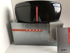 About Hardshell Sunglasses Prada Original Eyeglasses Wnew Case Sport Details Packaging Black DIE2HYeW9
