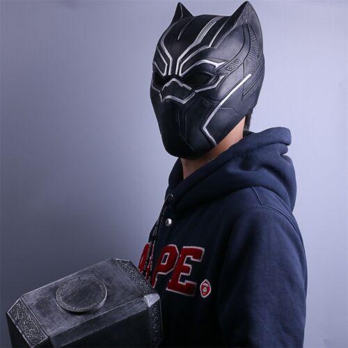 2018 Black Panther Mask Cosplay  Black Panth Helmet Latex Handmade Party Mask