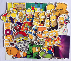 5adc1c986e95f Details about 25x Cartoon anime Vinyl stickers For Simpsons Street tide  graffiti sticker Decal