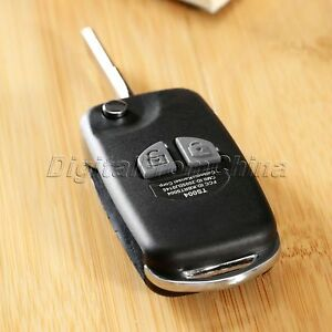 Flip Remote Key Case Shell fit for SUZUKI SX4 Swift 2 Button with Button Pad