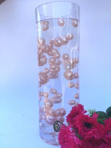 75pc Jumbo /& Assorted Size ALL LIGHT PINK Pearls Vase Fillers table centerpieces