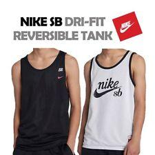 24a1e1a85528 Nike SB Mesh Reversible Mens Black White Tank Top Size Large 886094 ...