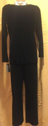 Top e Velvet lunga 2 Black Pc Pant Maternity manica Y47FqxF