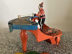 Vintage Wolverine Zilotone Wind Up Xylophone Toy W Three Discs