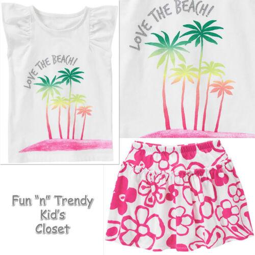 NWT Gymboree HOP N ROLL Girls Size 6 or 7 Skirt Skort /& Tee Shirt Top 2-PC SET