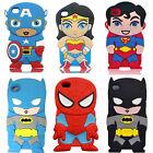 3D Cute Cartoon Batman Super Hero Soft Cover Case For iPhone 4s 5s 6 6s 6Plus