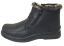 MEN-Black-Winter-Ankle-Snow-Boots-Comfort-Zipper-Slip-On-Loafer-Fur-Lined-Boots thumbnail 2
