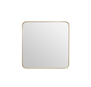 Image Is Loading Small Square Golden Mirror Contemporary Gold Frame Rounded