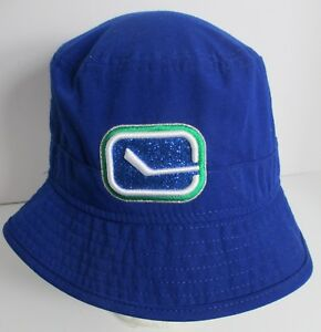 NHL Vancouver Canucks Womens or Youth Bucket Hat Cap New Era Small ... f0570ea9bd0c