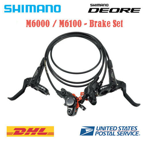 Shimano Deore BR-M6100 M6000 Bike MTB Hydraulic Disc Brake Set Front and Rear