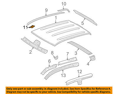 TOYOTA Genuine 75556-0T022 Roof Molding