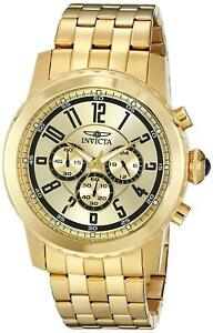 Invicta-19465-Specialty-Men-039-s-Chronograph-50mm-Gold-Tone-Steel-Gold-Dial-Watch