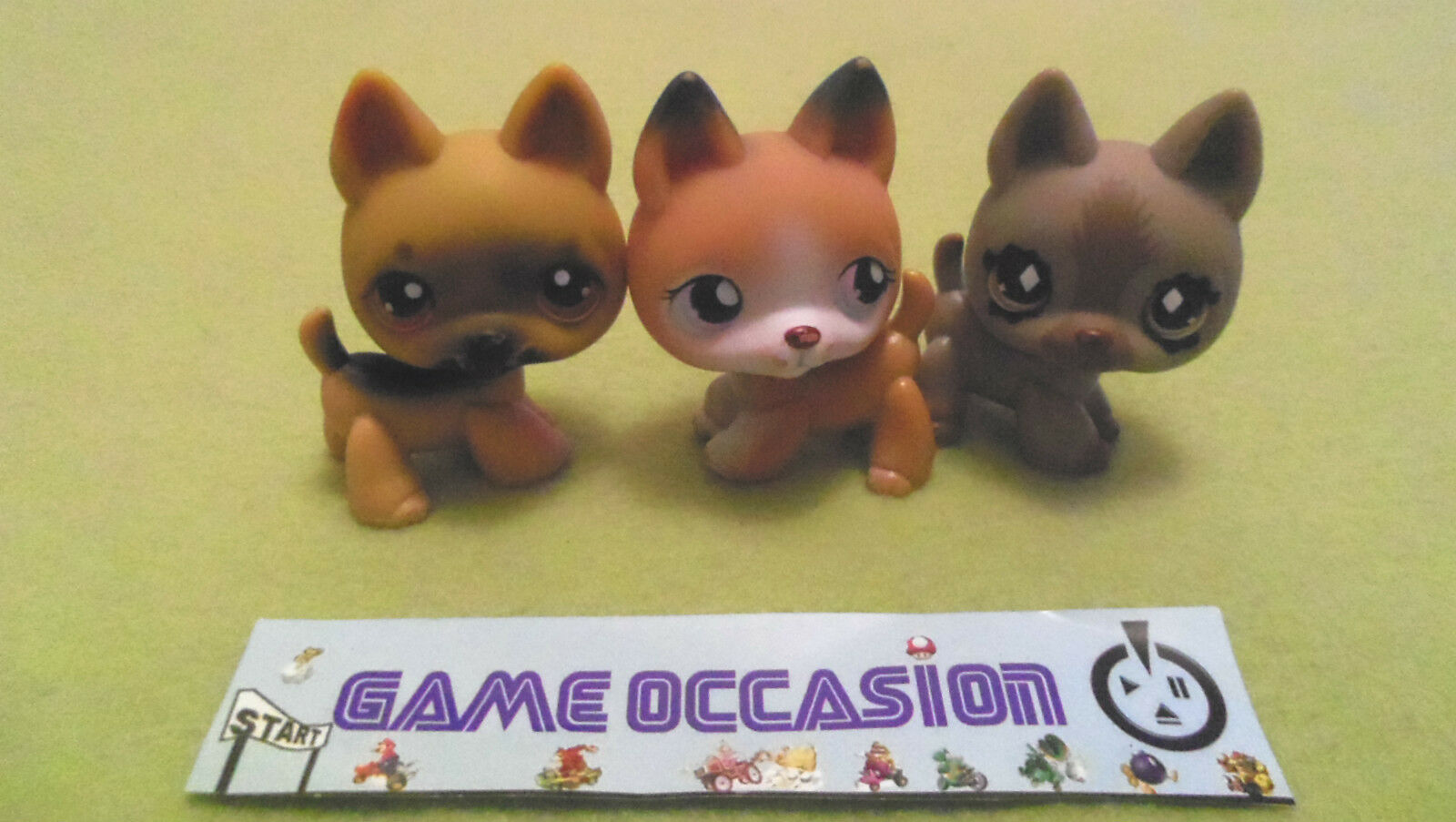 LITTLEST PETSHOP PET SHOP HUND BERGER DEUTSCH NR.061 NR. 491 NR.112