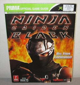 Ninja Gaiden Black 2005 Prima Official Game Guide Team Ninja Tecmo Action 9780761552116 Ebay