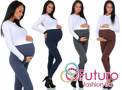 Diskret Thick Comfortable Maternity Cotton Leggings Full Ankle Length Pregnancy Um Jeden Preis