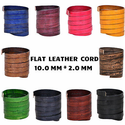 Violet Natural Xsotica 1 Yard Flat Leather Cords 3.0MM X 2.0MM