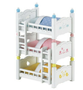 Sylvanian Families Calico Critters Triple Bunk Beds Ebay
