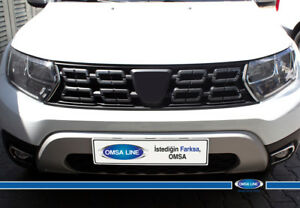 FIT-Dacia-Renault-Duster-CHROME-Front-Grill-Side-Streamers-2-Pcs-S-Steel-2018-gt-UP