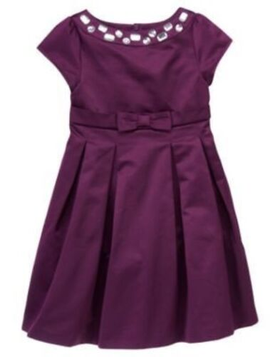 GYMBOREE FAIR ISLE SPARKLE PURPLE GEM YOKE TAFFETA DRESSY DRESS 3 4 6 7 8 NWT
