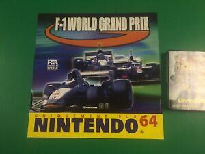 Détails sur Plv Nintendo 64 F1 World Grand Prix Neuve New Sign Display  Collector