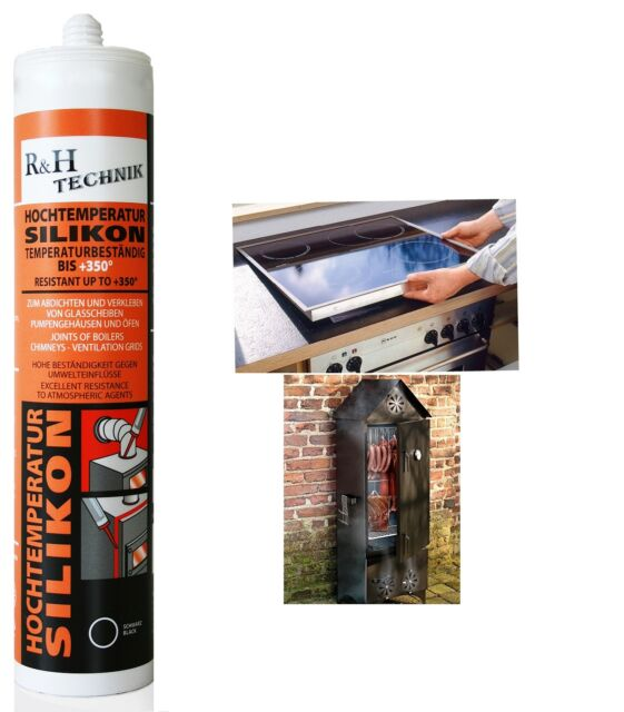 Baustoffe & Holz K2 Silikon Silikon Hochtemperatur Dichtmasse 350° Schwarz 21g