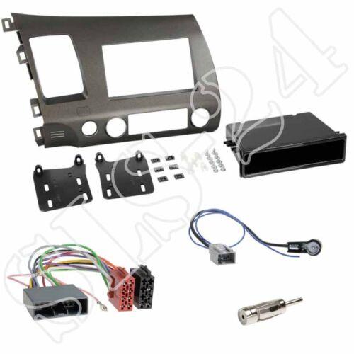 HONDA Civic Hybrid Doppel-DIN Radioblende anthrazit ISO Adapter Antenne US SET