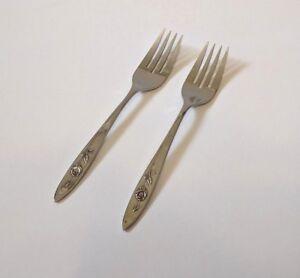 Oneida Community LOUISIANA Set Of 6 Dinner Forks Stainless Steel Glossy ROSES