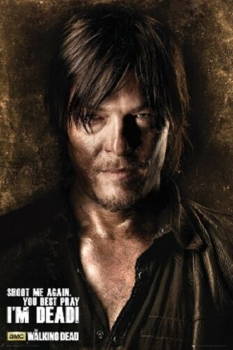 The Walking Dead Shoot Me Again Poster fea. Norman Reedus as Daryl Dixon 24x36